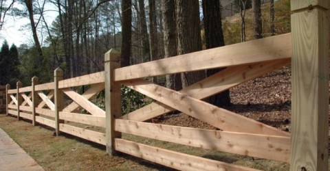cross wooden fence