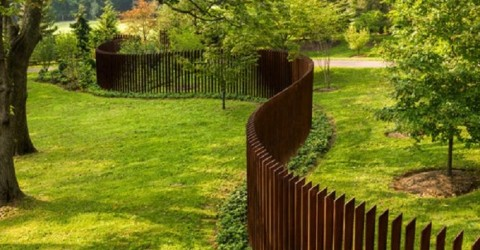 Sculptural dog fence