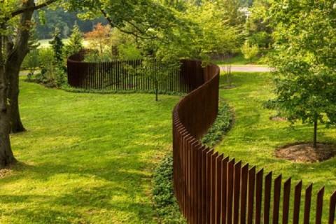 Sculptural dog fence
