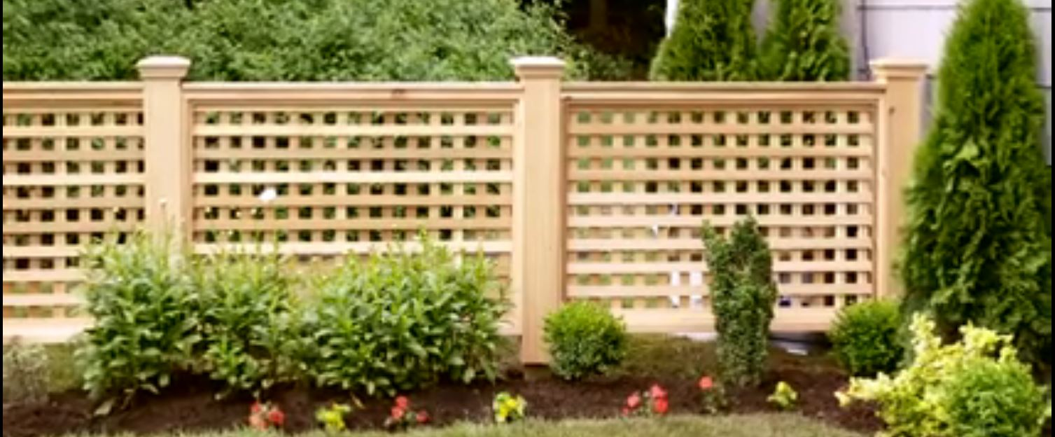 How to build your own wood lattice fence for Lattice screen fence