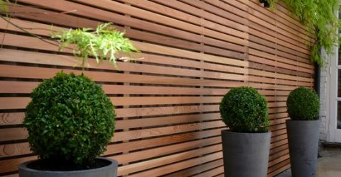 wooden privacy fence to hide wall